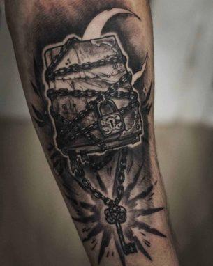 Magic Book Tattoo