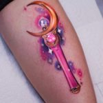 Moon Stick Tattoo Sailormoon