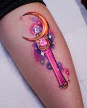 Moon Stick Tattoo Sailormoon