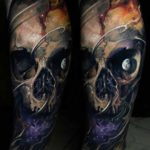 Moon Skull Tattoo