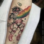 Rainbow Astronaut Tattoo