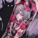 Sakura Anime Tattoo Reaper