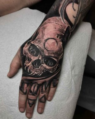 Skull Tattoos on Hands