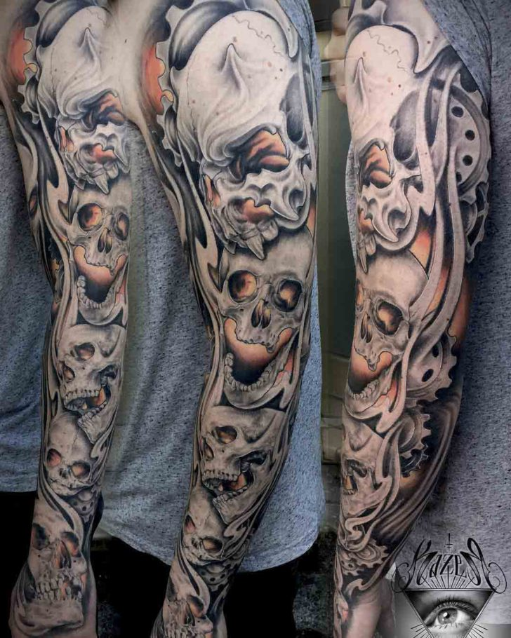 tattoo sleeve skulls