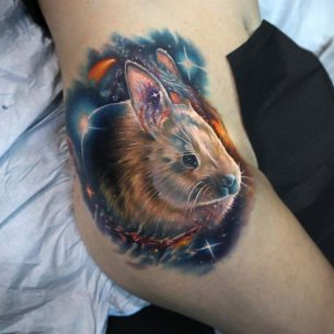 Space Rabbit Tattoo