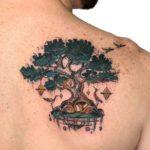 Spiritual Tree Tattoo on Shoulder Blade