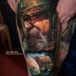 Viking Tattoo on Thigh