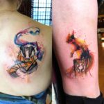 Watercolor Animal Tattoos