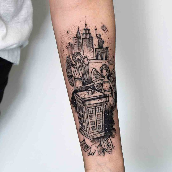 Weeping Angels Tattoo Doctor Who
