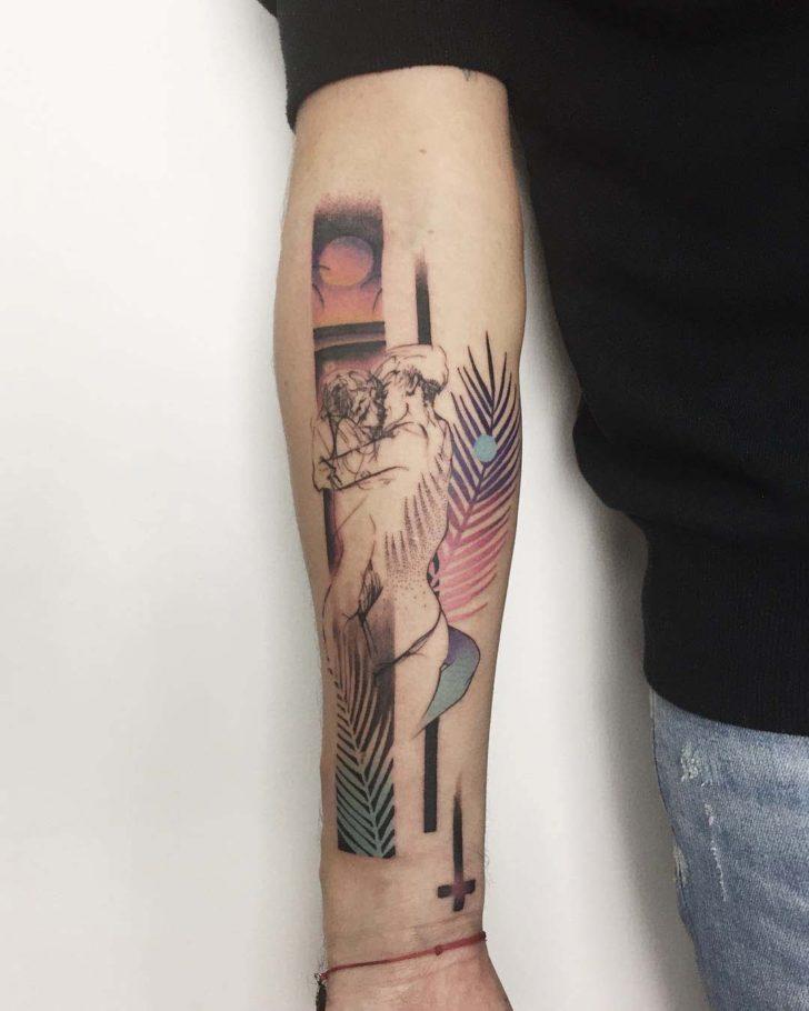 arm tattoo 80s style