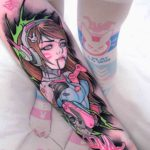 Anime Overwatch Tattoo