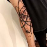 Atom Tattoo on Arm