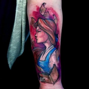 Belle Tattoo Beauty and The Beast