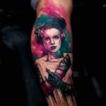 Bride of Frankenstein's Monster Tattoo
