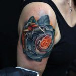 Camera Rose Tattoo