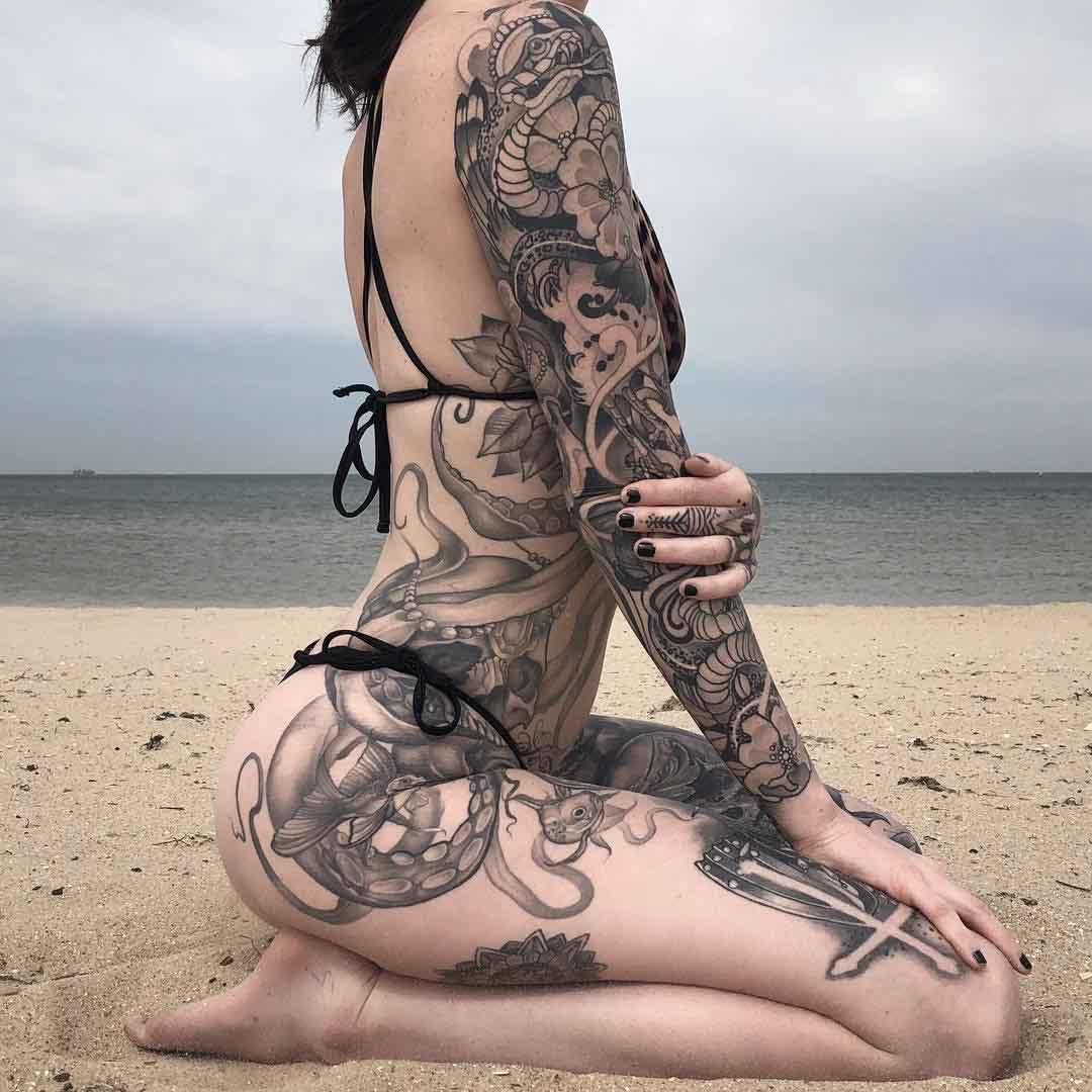 inked tattoo artist Cecile