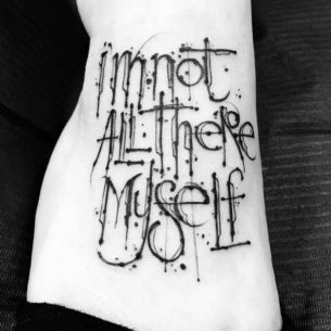 Cool Lettering Tattoo