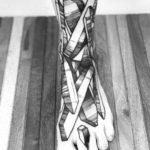 Crystals Tattoo on Foot