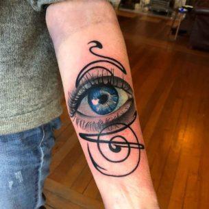 Eye Tattoo on Forearm