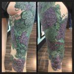 Grapes Leg Tattoo Sleeve
