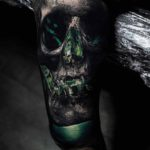 Green Lantern Tattoo Skull