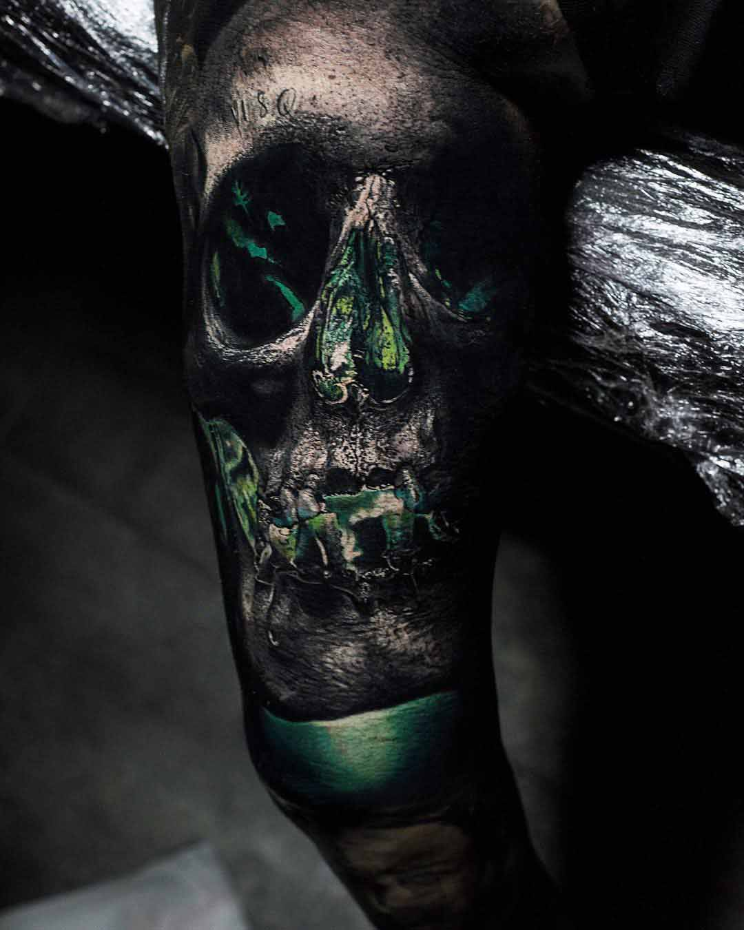 skull tattoo green lantern