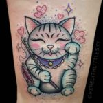 Kawaii Lucky Cat Tattoo