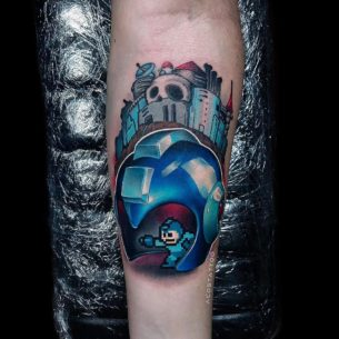 Megaman Tattoo on Arm