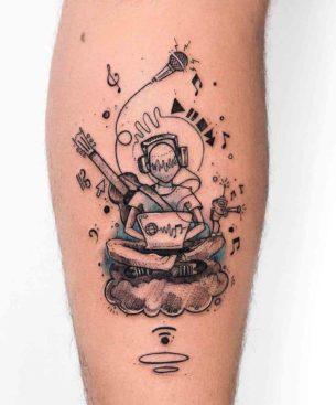 Music Lover Tattoo
