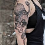 Big Octopus Tattoo on Shoulder