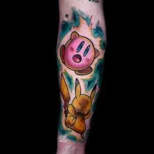 Pokemon Fight Tattoo