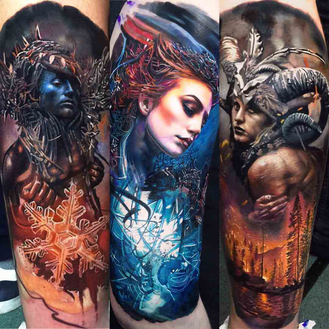 photo art inspired tattoos
