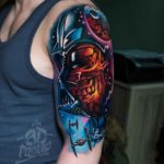 Shoulder Star Wars Tattoo Vader