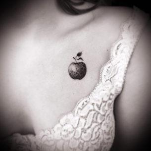 Small Apple Tattoo