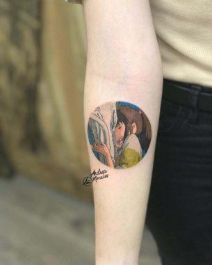 Spirited Away Tattoo Circle