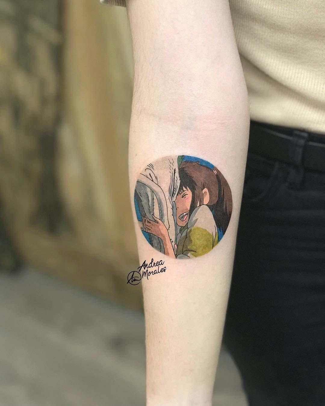 arm tattoo spirited away