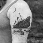 Titanic Tattoo on Shoulder