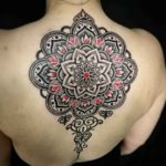 Upper Back Mandala Tattoo Dotwork