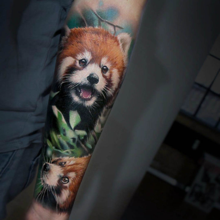 animal tattoo firefoxes