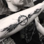 Stone Arrow Tattoo on Forearm