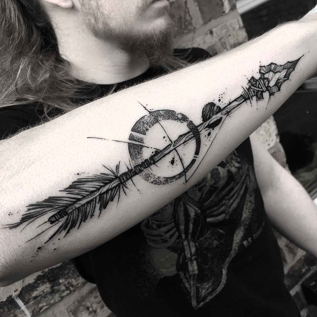 forearm tattoo arrow