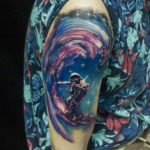 Astro Surfer Tattoo