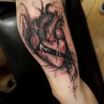 Cracked Heart Tattoo