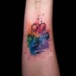 Dog Paw Tattoo Watercolor