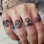 Elements Tattoos on Fingers