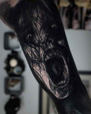 Evil Spirit Tattoo