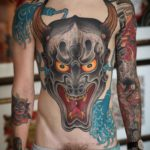 Full Body Tattoo Hannya Mask