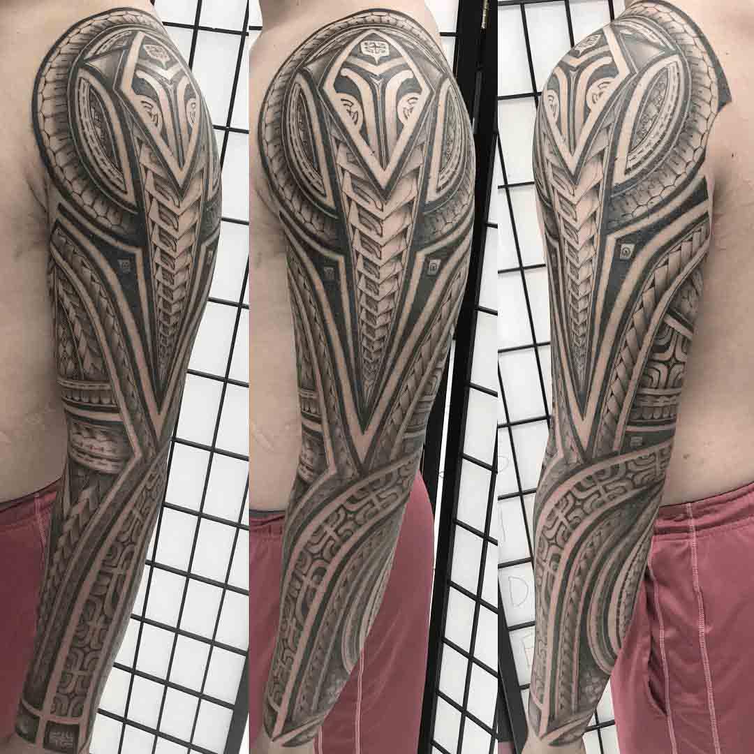 polynesian tattoo sleeve ornament