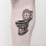 Luxury Toilet Tattoo