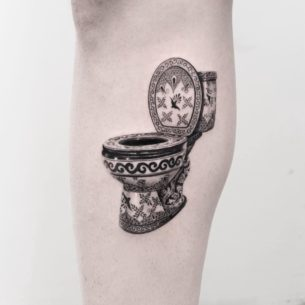 Luxury Toilet Tattoo